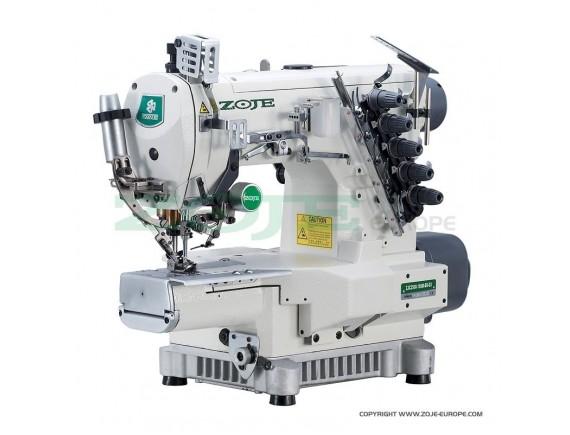 Masina de cusut Zoje industriala, interlock cu brat cilindric, cusatura tip acoperire, 3 ace si 5 ate, distanta dintre ace de 6,4 mm ZJC2500-164M-BD-D3