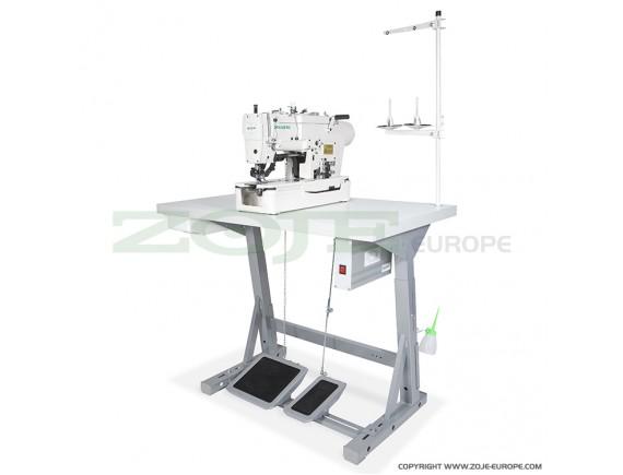 Masina de cusut Zoje industriala pentru butoneiere, mecanica, plana cu 1 ac ZJ781-BD