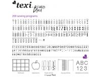 Masina de cusut Texi Black&White cu 200 de programe