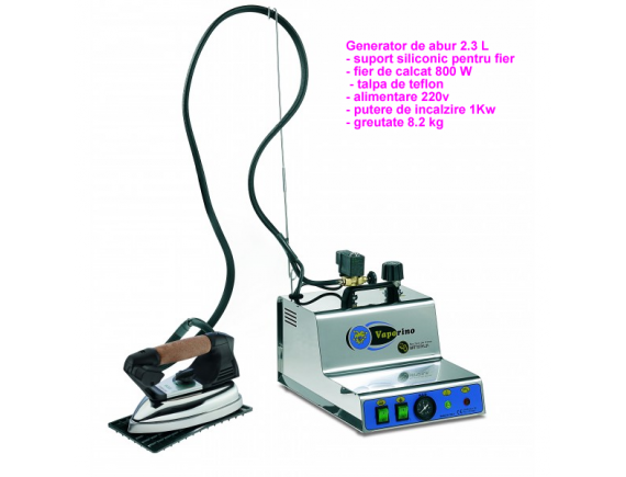 Generator de abur 2.3 Litri BATTISTELLA VAPORINO MAXI INOX